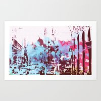 time square/new york 1 Art Print