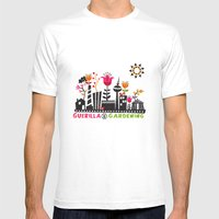 Guerilla Gerdening Mens Fitted Tee White SMALL