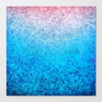 Pink Vs Blue Canvas Print