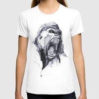 monkey T-shirts featuring Wild Rage by Philipp Zurmöhle