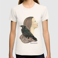 Nevermore Womens Fitted Tee Natural SMALL