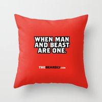WHEN MAN AND BEST ARE ON… Throw Pillow