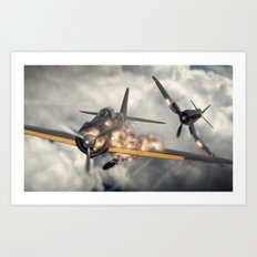 Watch Your Six! Art Print