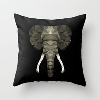 Polygon Heroes - The Des… Throw Pillow