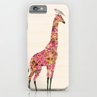 iPhone & iPod Case featuring Pink Giraffe by TatiAbaurreDesigns