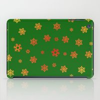 Snowflakes (Red & Gold O… iPad Case