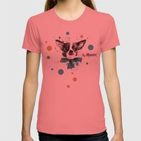 Chic Chihuahua Dog Womens Fitted Tee Pomegranate SMALL