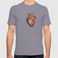 Anatomical heART Mens Fitted Tee Slate SMALL