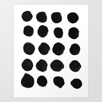 Black Dots Art Print