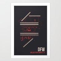 DFW Art Print