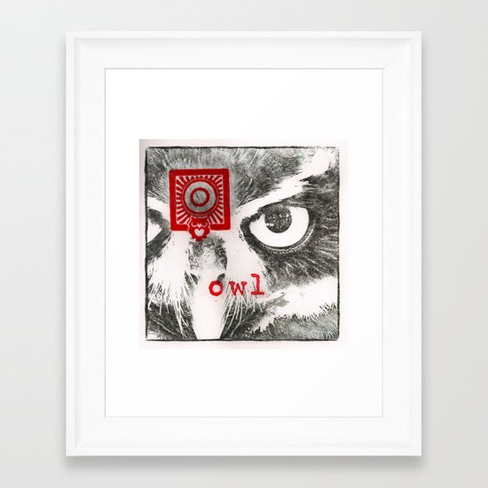 O is for owl Framed Art Print
