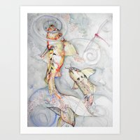 Koi 2 Art Print