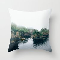 Cape Flattery Fog Throw Pillow