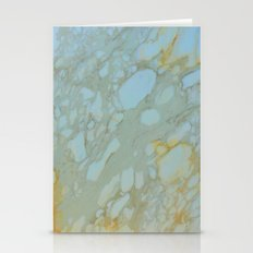 Marble In Blues And Gold… Stationery Cards