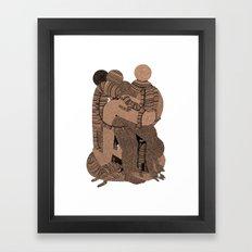 Big Bent Framed Art Print