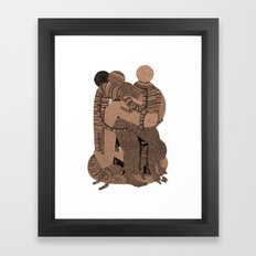 Big Bent Framed Art Print