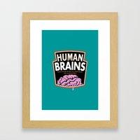 Human Brains Framed Art Print