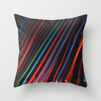 Colorful Beams Throw Pillow