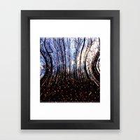 Coloured Snow Flakes Framed Art Print
