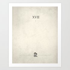 XVII: And Then She Cried Art Print