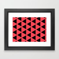 Sleyer Black on Pink Pattern Framed Art Print