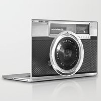 red Laptop & iPad Skins featuring Camera by Nicklas Gustafsson