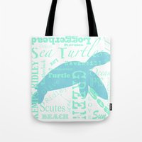 Abstract Sea Turtle Tote Bag