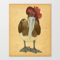 Plumpkin Ploshkin Pelican Jill Canvas Print