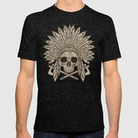 The Dead Chief Mens Fitted Tee Tri-Black SMALL