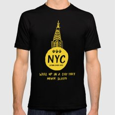 NYC Black SMALL Mens Fitted Tee
