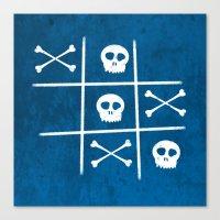 Skull & Bones Canvas Print