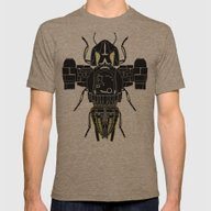 Firefly Mens Fitted Tee Tri-Coffee SMALL
