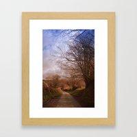 Country walk Framed Art Print