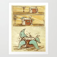 Attack Of The Tentacles Art Print