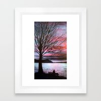 Boulevard Sunset Framed Art Print