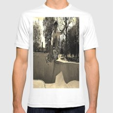 Adam Lindles 1 White SMALL Mens Fitted Tee