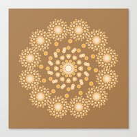 Atom B4 - Brown Canvas Print