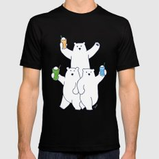 Summer float bears SMALL Mens Fitted Tee Black