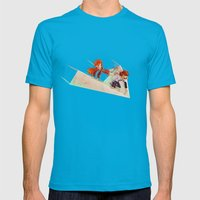 Flying Around Mens Fitted Tee Teal SMALL