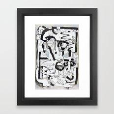 Behind Cover Framed Art Print