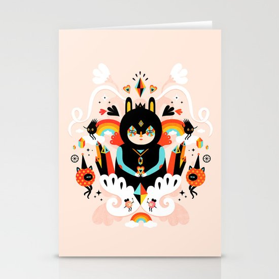 Rainbow Queen Stationery Card