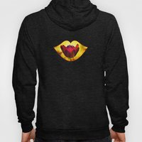 Burning Love -- Spring Botanical Red Tulip Flower Hoody