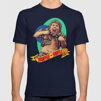 Truffle Shuffle! Mens Fitted Tee Navy SMALL