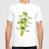 Green Orchid Mens Fitted Tee White SMALL