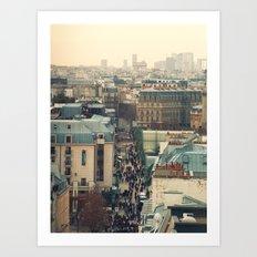 Paris Rooftops Art Print