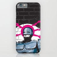 iPhone & iPod Case featuring Robocop In Love by Matt Fontaine