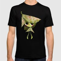Leaf Girl Mens Fitted Tee Black SMALL