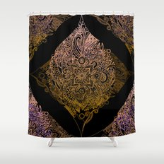 Detailed diamond, bordeaux glow Shower Curtain