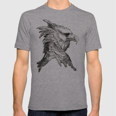 Hawk profile  Mens Fitted Tee Athletic Grey SMALL