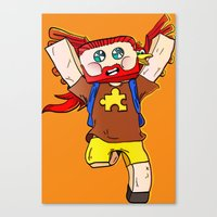 Getting Jiggy With It - … Canvas Print